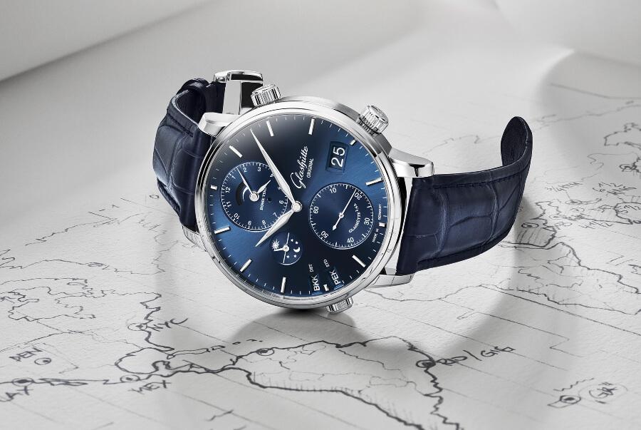Glashütte Original Senator Cosmopolite In Midnight Blue Watch Review
