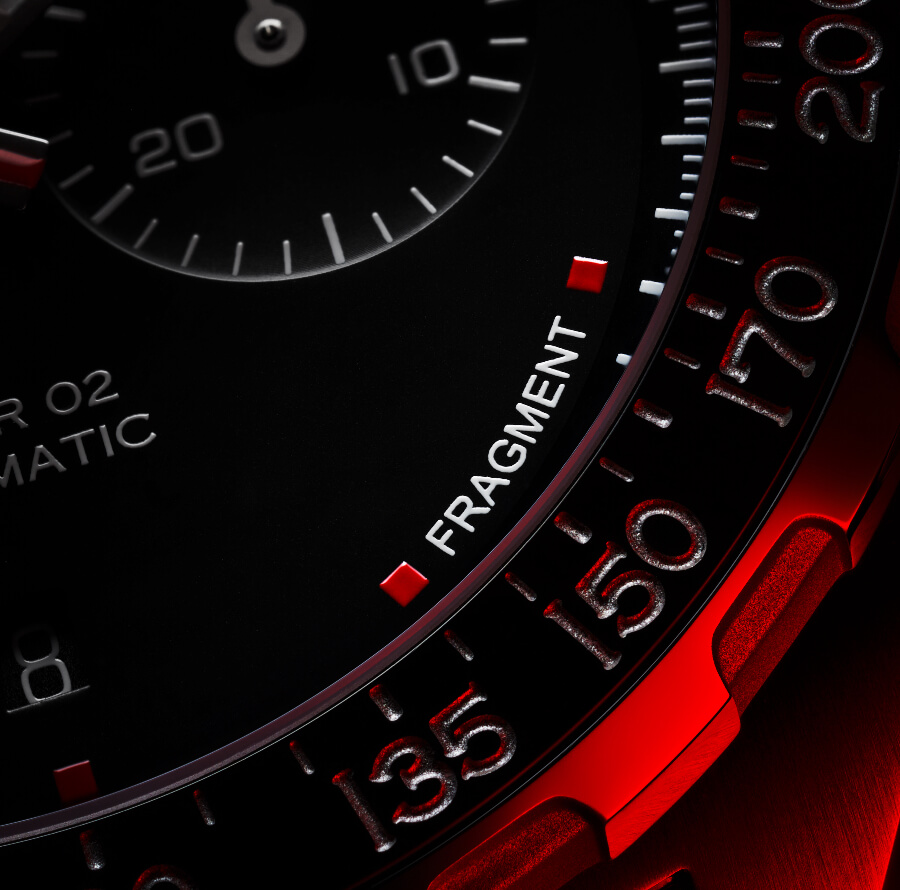 TAG Heuer x Fragment Design Calibre Heuer 02 Automatic Chronograph Dial
