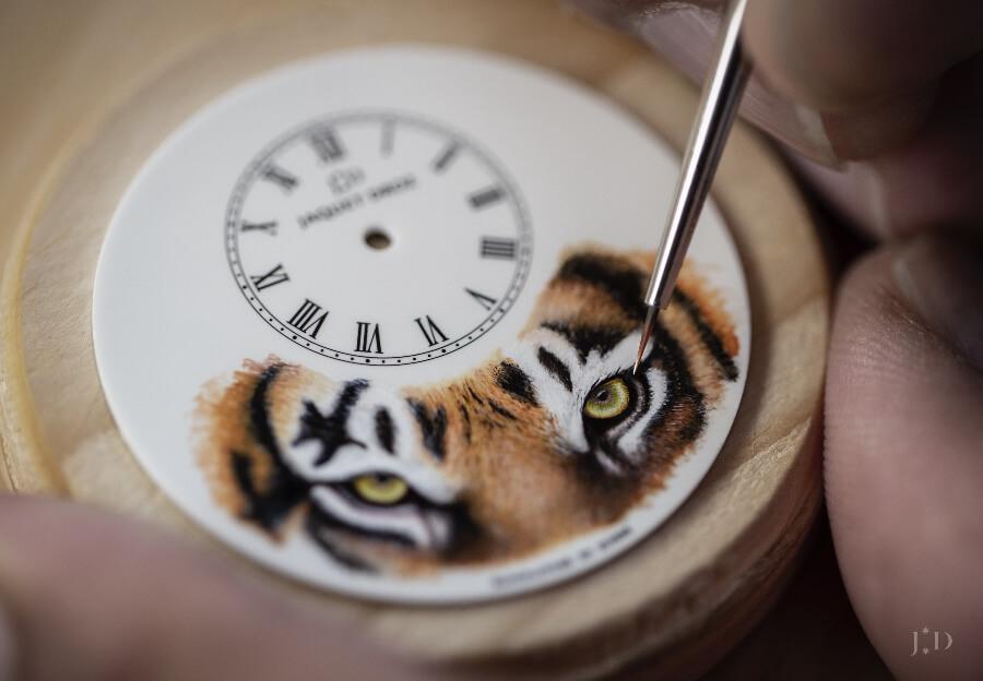 "Jaquet Droz Petite Heure Minute ""Tiger"" Dil Manufacture"