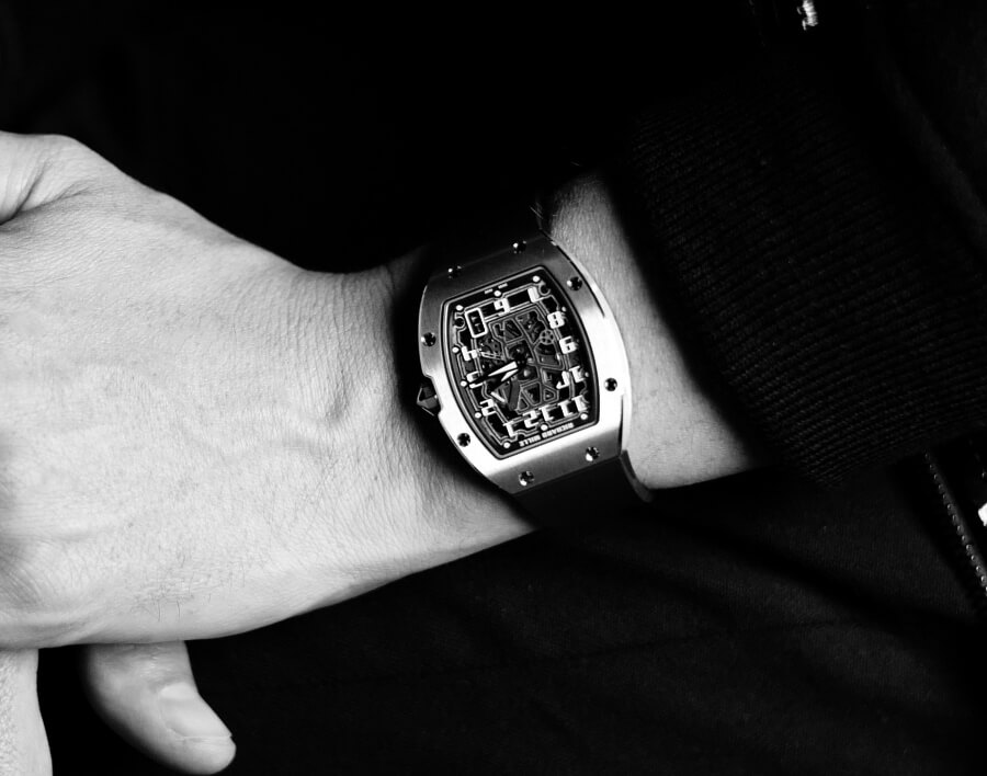 •	Thomas Roussel wears the Richard Mille RM 67-01 Automatic Extra Flat