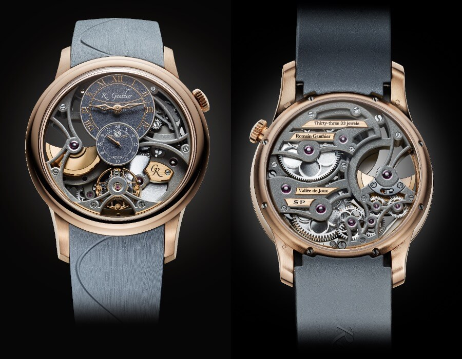 Romain Gauthier Insight Micro-Rotor Squelette Special Orders Red Gold watch Review