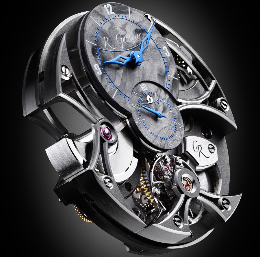Romain Gauthier Insight Micro-Rotor Squelette Manufacture-Only Carbonium Edition Dial And Movement