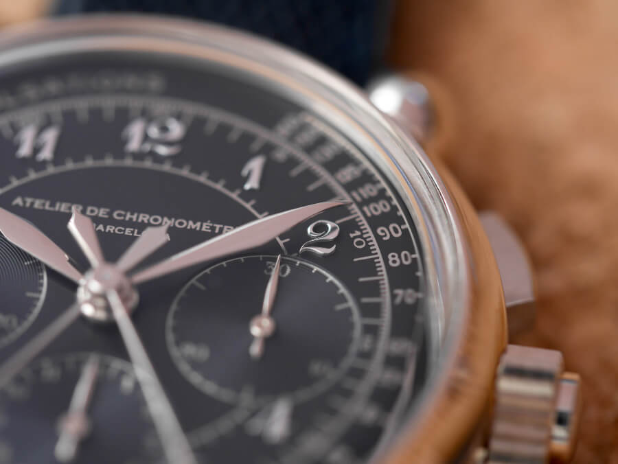 Atelier de Chronométrie AdC#8 Split-Seconds Chronograph Dial