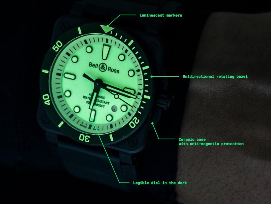 Bell & Ross BR 03-92 Diver Full Lum Watch Review