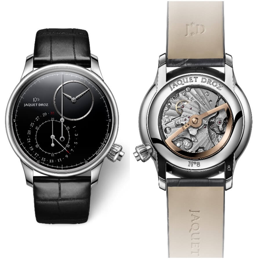 Men Watches Jaquet Droz Grande Seconde Off-Centered Chronograph Black Onyx