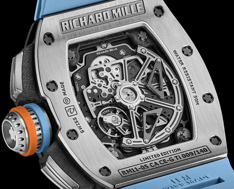 Richard Mille RM 11-05 Automatic Flyback Chronograph GMT In House Movement