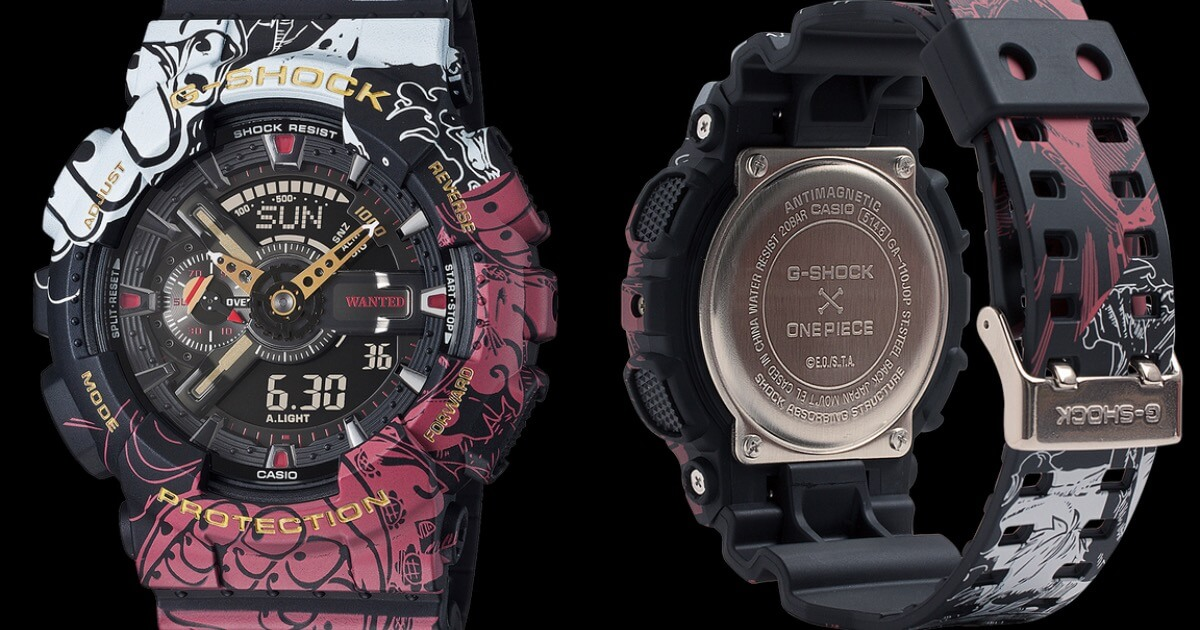 Casio G-Shock x One Piece Collaboration Timepiece GA110JOP-1A4 (Price, Pictures and Specifications)