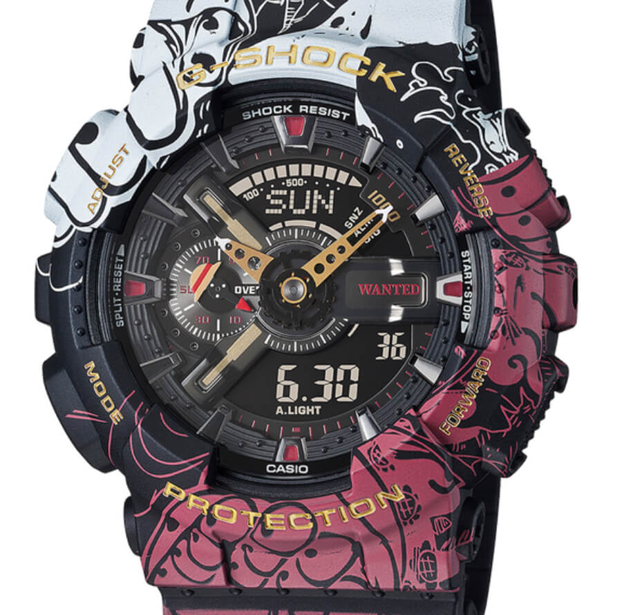 Casio G-Shock x One Piece Collaboration Timepiece GA110JOP-1A4