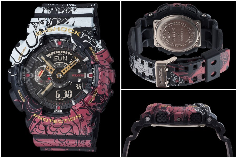 Casio G-Shock x One Piece Collaboration Timepiece GA110JOP-1A4 Watch review