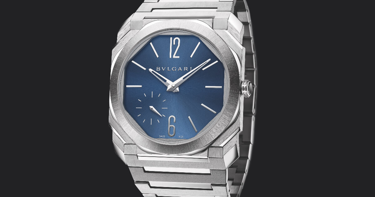 Bvlgari Octo Finissimo Automatic Satin-Polished Steel 100 m Blue Dial (Price, Pictures and Specifications)