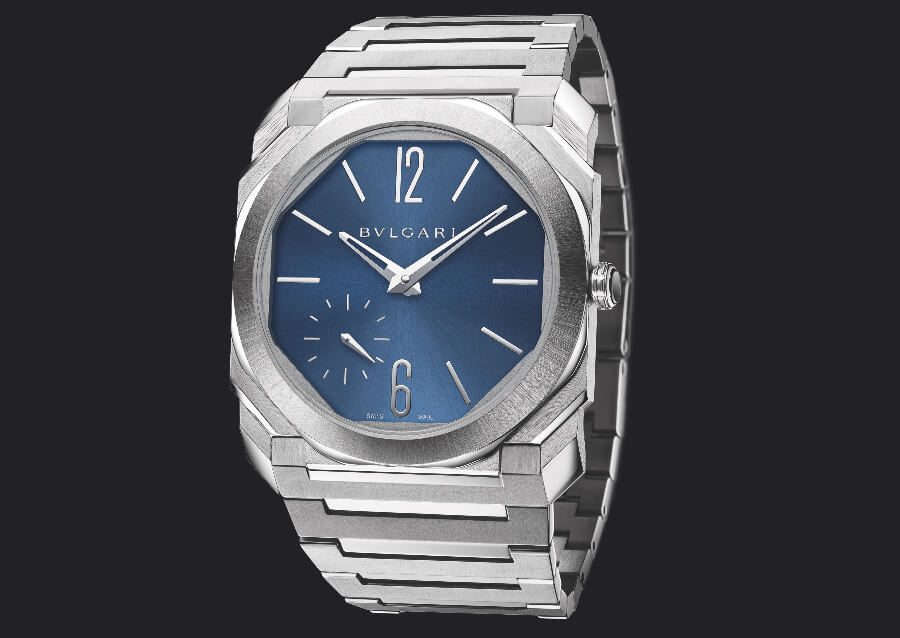 Bvlgari Octo Finissimo Automatic Satin-Polished Steel 100 m Blue Dial