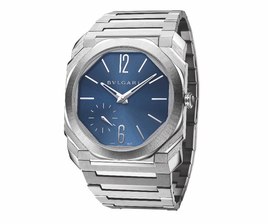The New Bvlgari Octo Finissimo Automatic Satin-Polished Steel 100 m Blue Dial