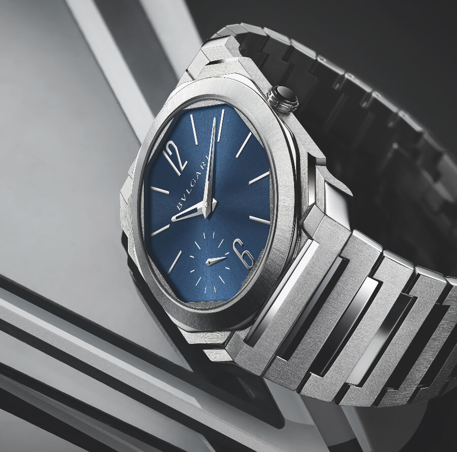 Bvlgari Octo Finissimo Automatic Satin-Polished Steel 100 m Blue Dial Watch Review