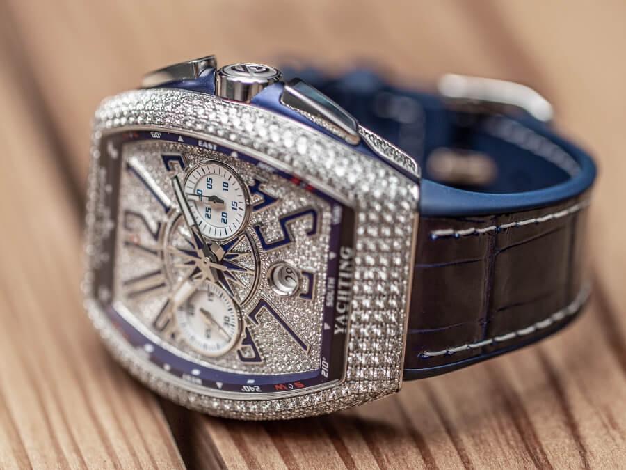 Franck Muller Vanguard Yachting Diamonds Chronograph  Watch Review