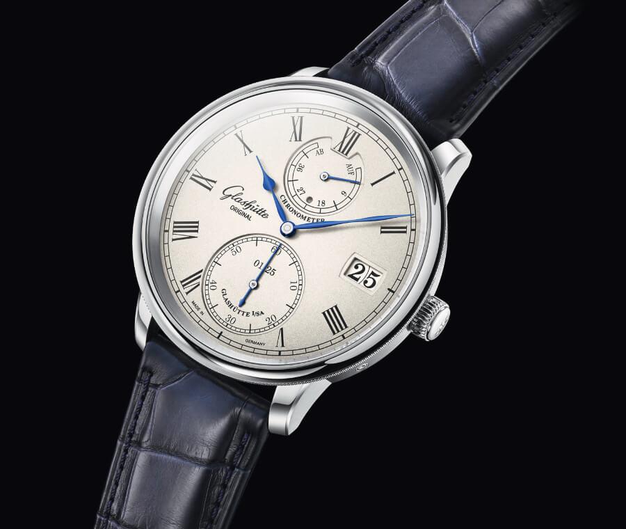 Men Watches Glashütte Original Senator Chronometer Limited Edition White Gold