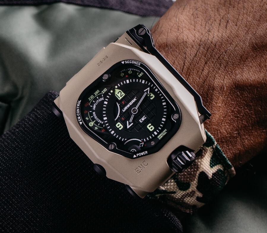 The New Urwerk EMC Time Hunter Desert Sage