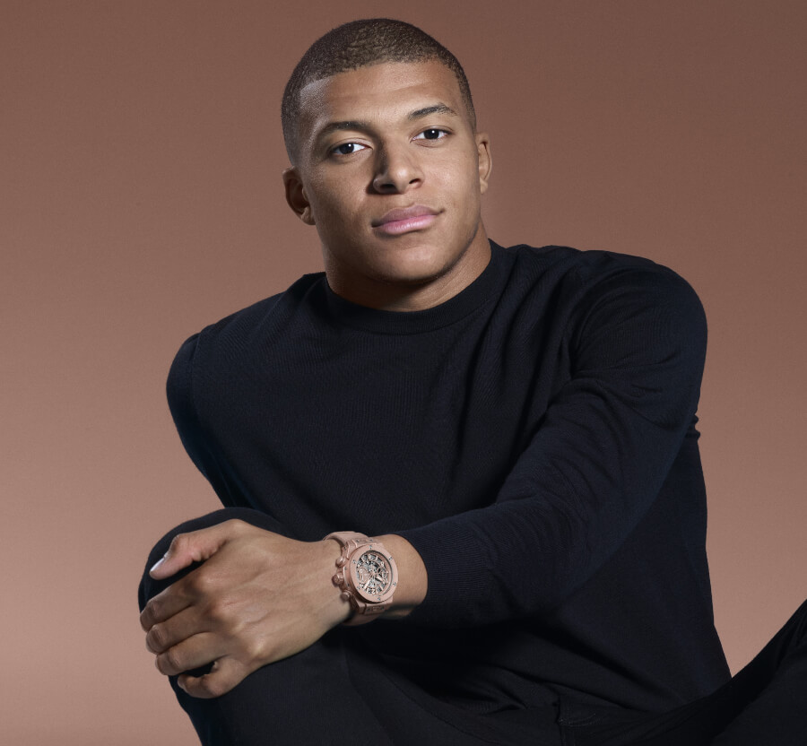 Kylian Mbappé Watch Collection Hublot Bang Millennial Pink