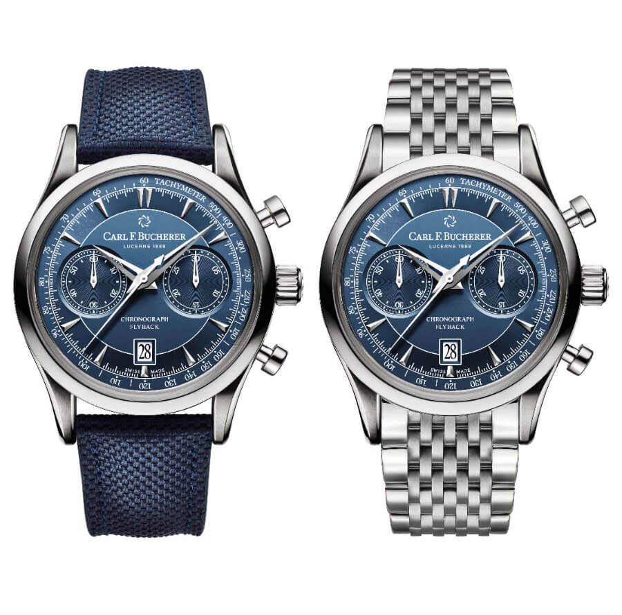 Carl F. Bucherer Manero Flyback Blue Dial