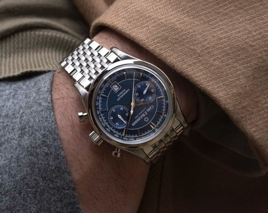 Carl F. Bucherer Manero Flyback Blue Dial Bracelet Watch Review