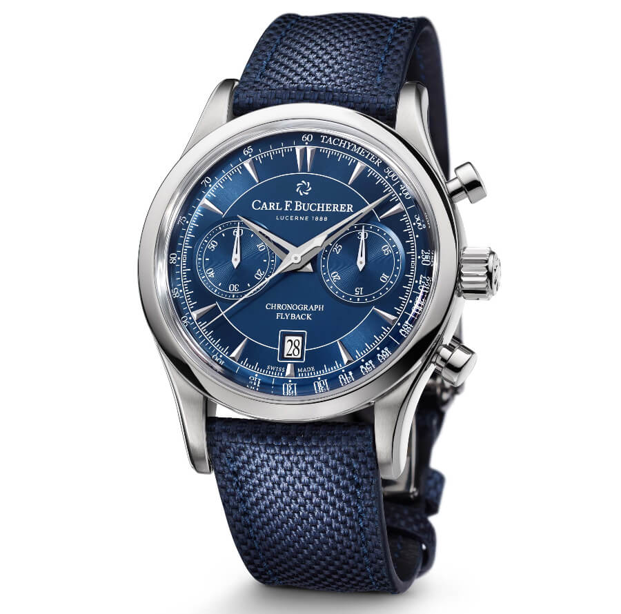 Carl F. Bucherer Manero Flyback Blue Dial Men Watch
