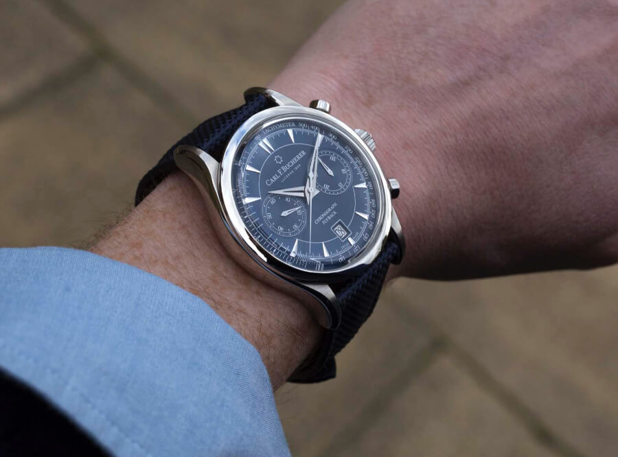 Carl F. Bucherer Manero Flyback Blue Dial Watch Review