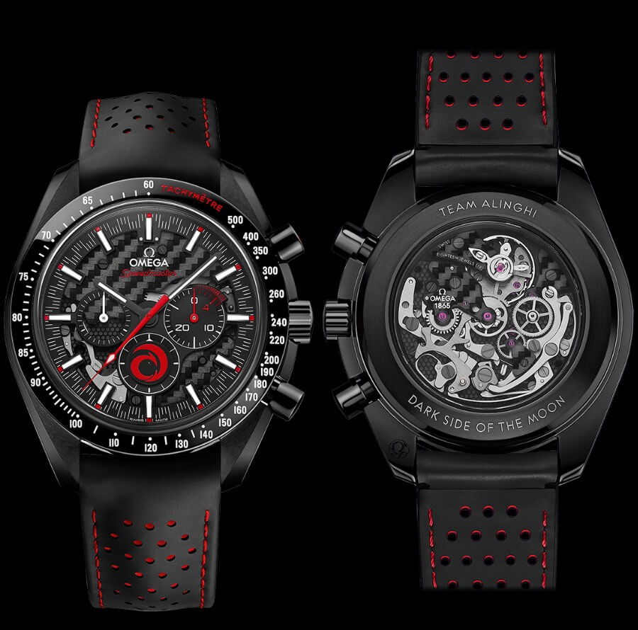 Men Watches Omega Speedmaster Dark Side Of The Moon Alinghi