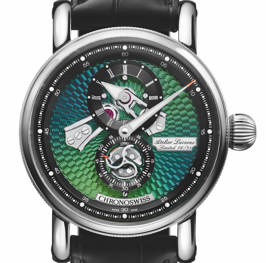 The ew Chronoswiss Flying Regulator Open Gear Ocean