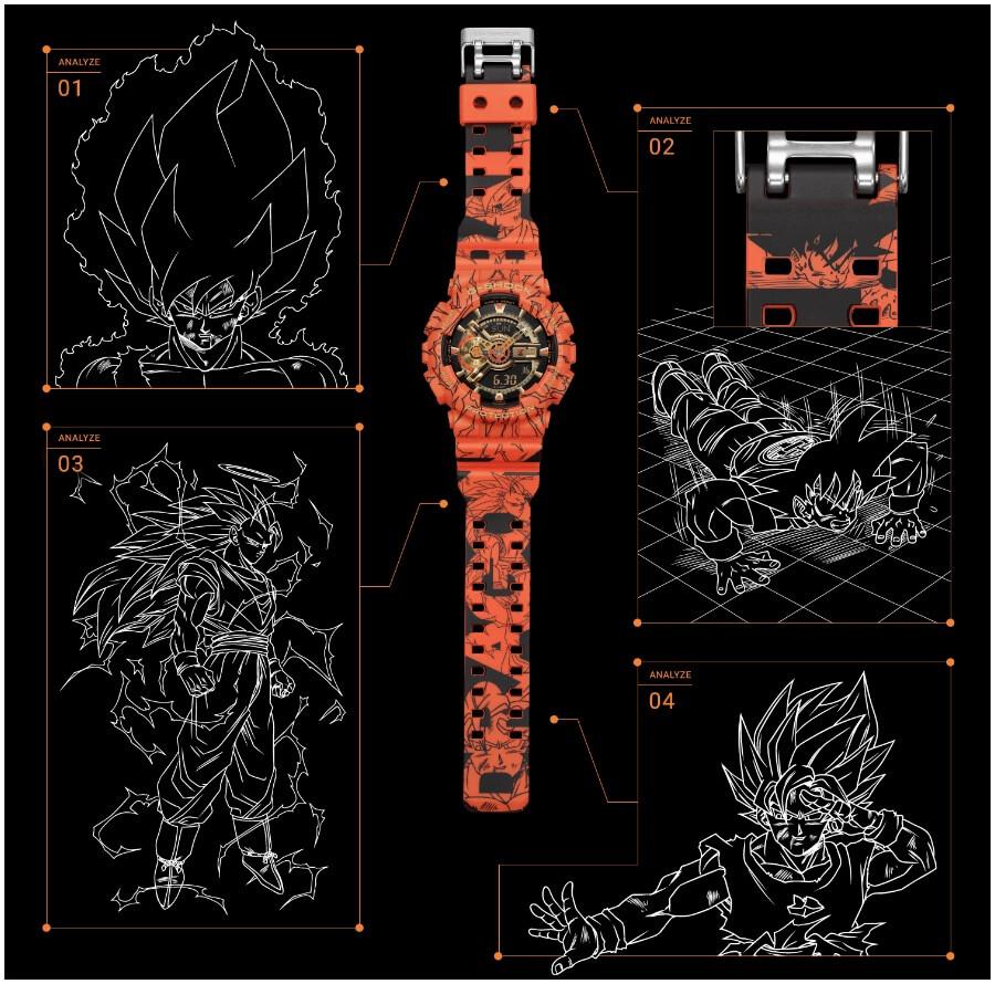 The New G-Shock X Dragon Ball Z GA110JDB-1A4 Limited Edition