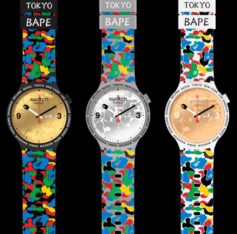 Swatch x BAPE Swatch Big Bold 2020