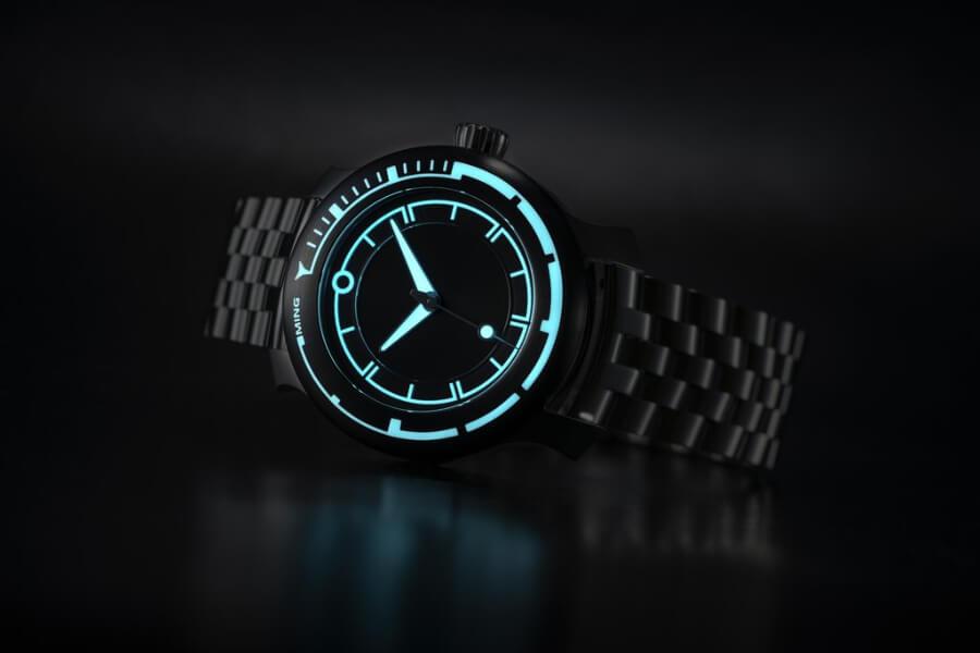 Ming 18.01 H41 Superluminova watch