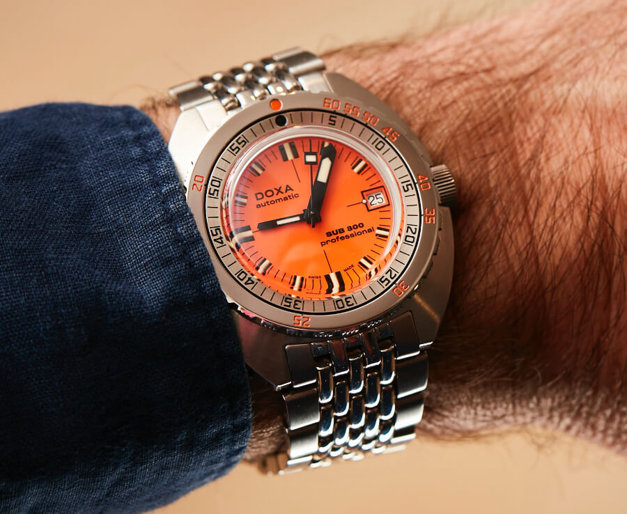 Doxa Stainless Steel SUB 300 COSC Watch Review