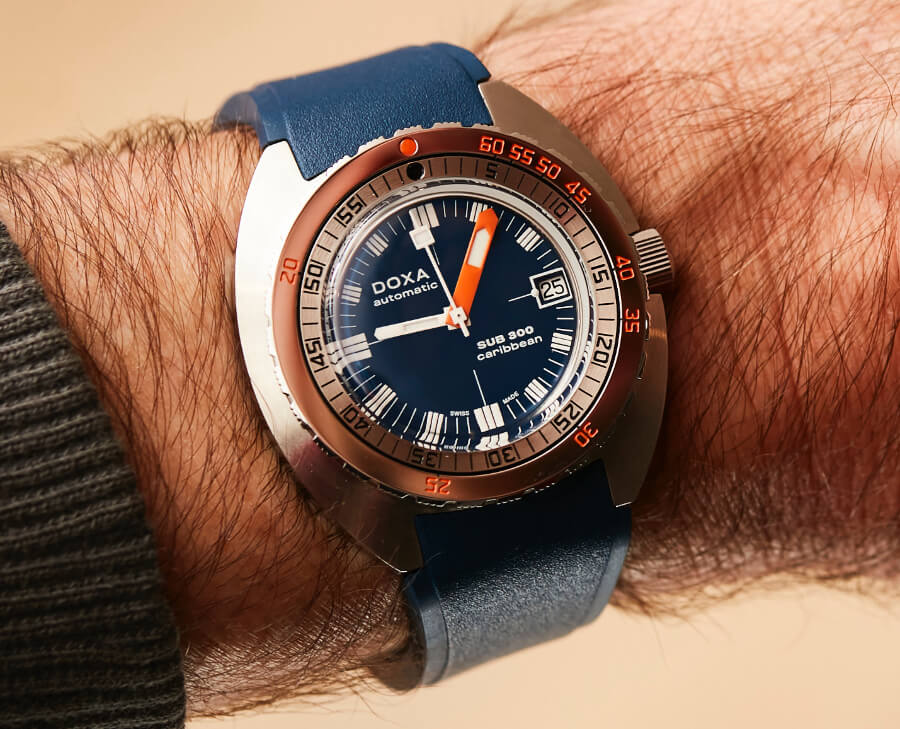 Doxa Stainless Steel SUB 300 COSC Blue Watch Review