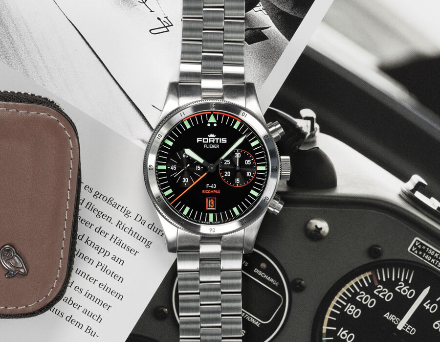 Fortis Flieger F-43 Bicompax Watch Review