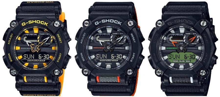 Casio G-Shock GA900A-1A9, GA900C-1A4 and the GA900E-1A3