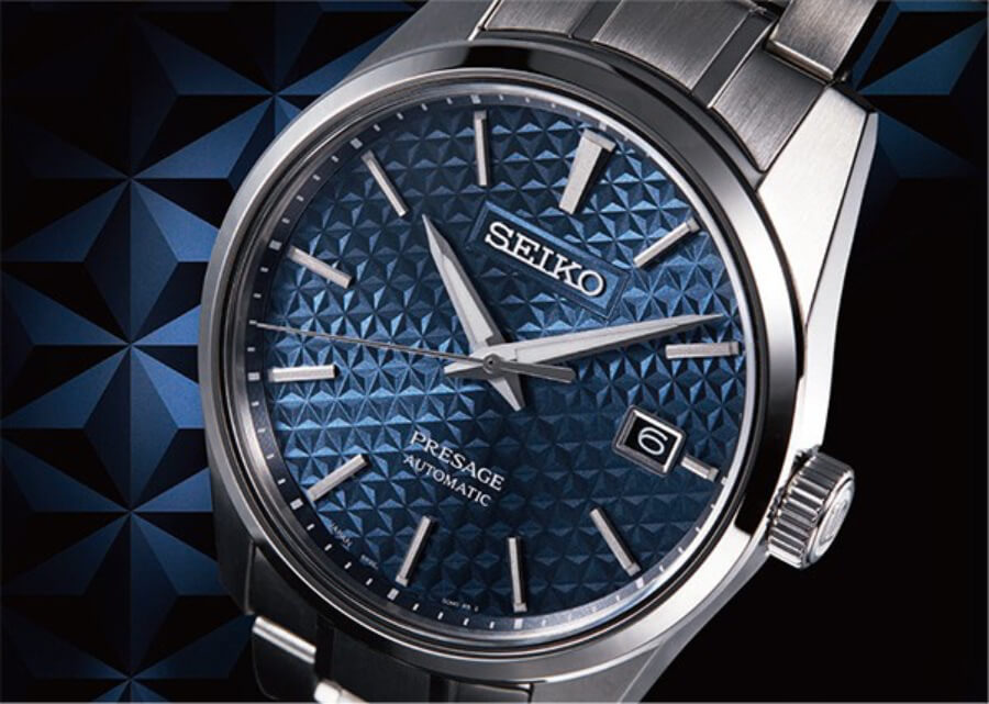 Seiko Presage Sharp Edged Series Blue dial