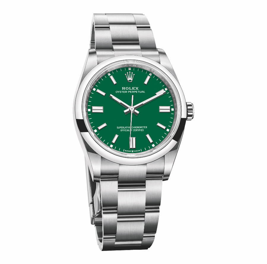 Rolex Oyster Perpetual 36 mm Green Dial