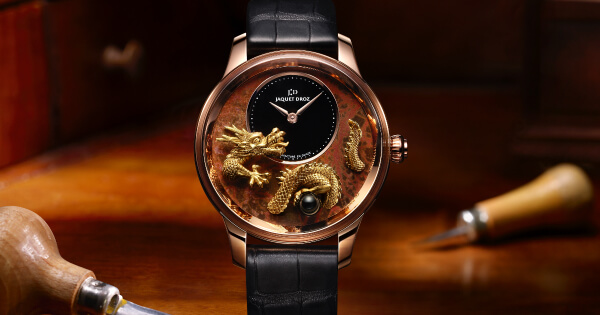 Jaquet Droz Petite Heure Minute Relief Dragon (Price, Pictures and Specifications)