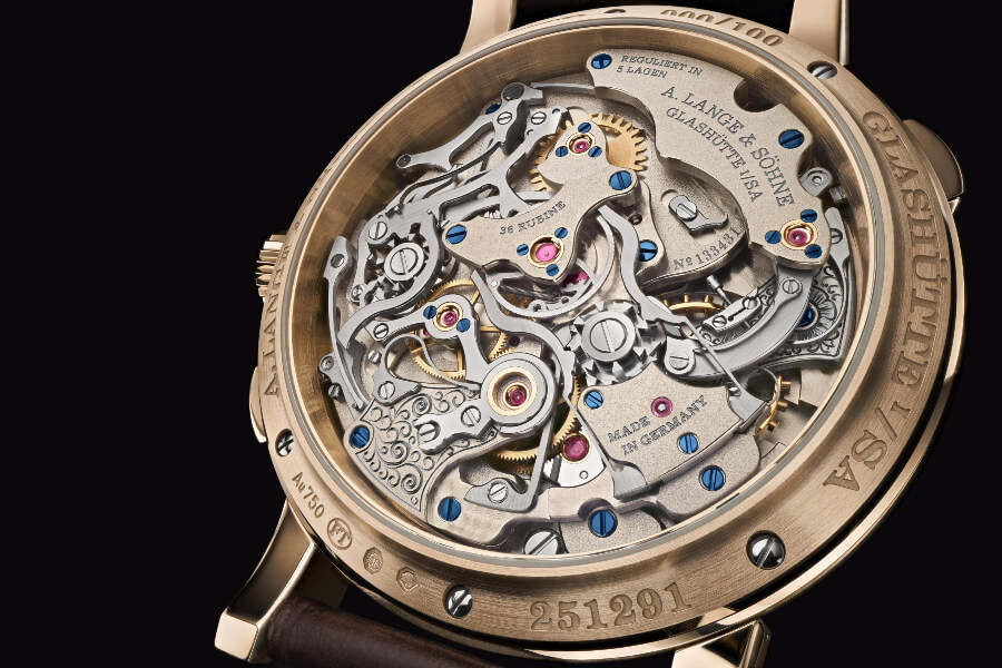 "A. Lange & Söhne 1815 Rattrapante Honeygold ""Homage to F. A. Lange"" In House Movement"