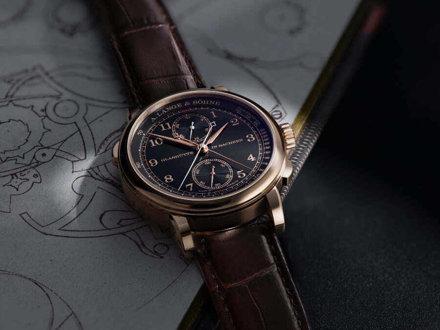 "A. Lange & Söhne 1815 Rattrapante Honeygold ""Homage to F. A. Lange"" Watch Review"