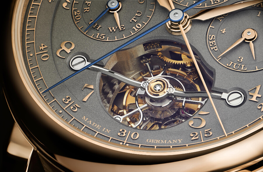 """A. Lange & Söhne Tourbograph Perpetual Honeygold """"Homage to F. A. Lange"""" Dial"""