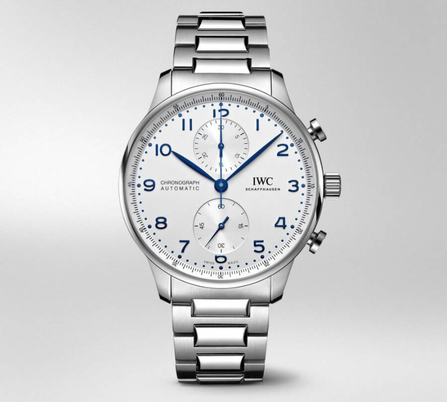 The New IWC Portugieser Chronograph Ref. IW371617 With Stainless Steel Bracelet