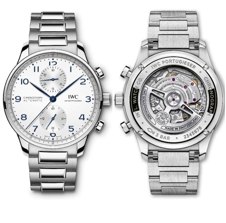 IWC Portugieser Chronograph Ref. IW371617 With Stainless Steel Bracelet