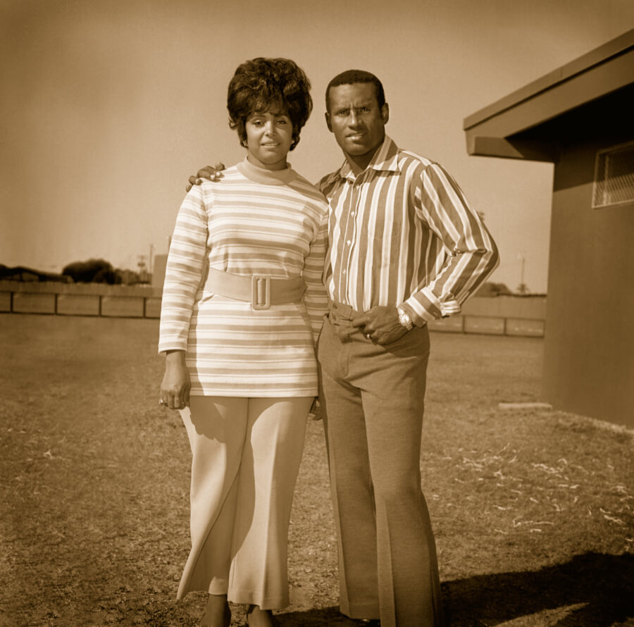 Roberto Clemente with his wife Vera
