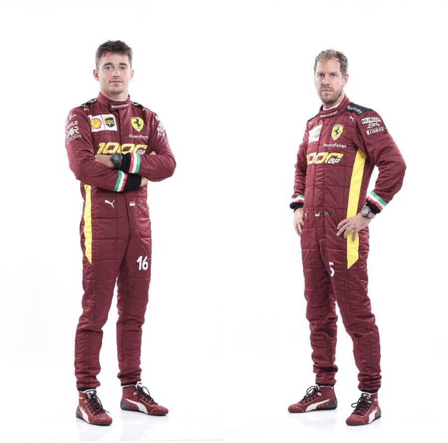 Charles Leclerc and Sebastian Vettel, Scuderia Ferrari's current drivers