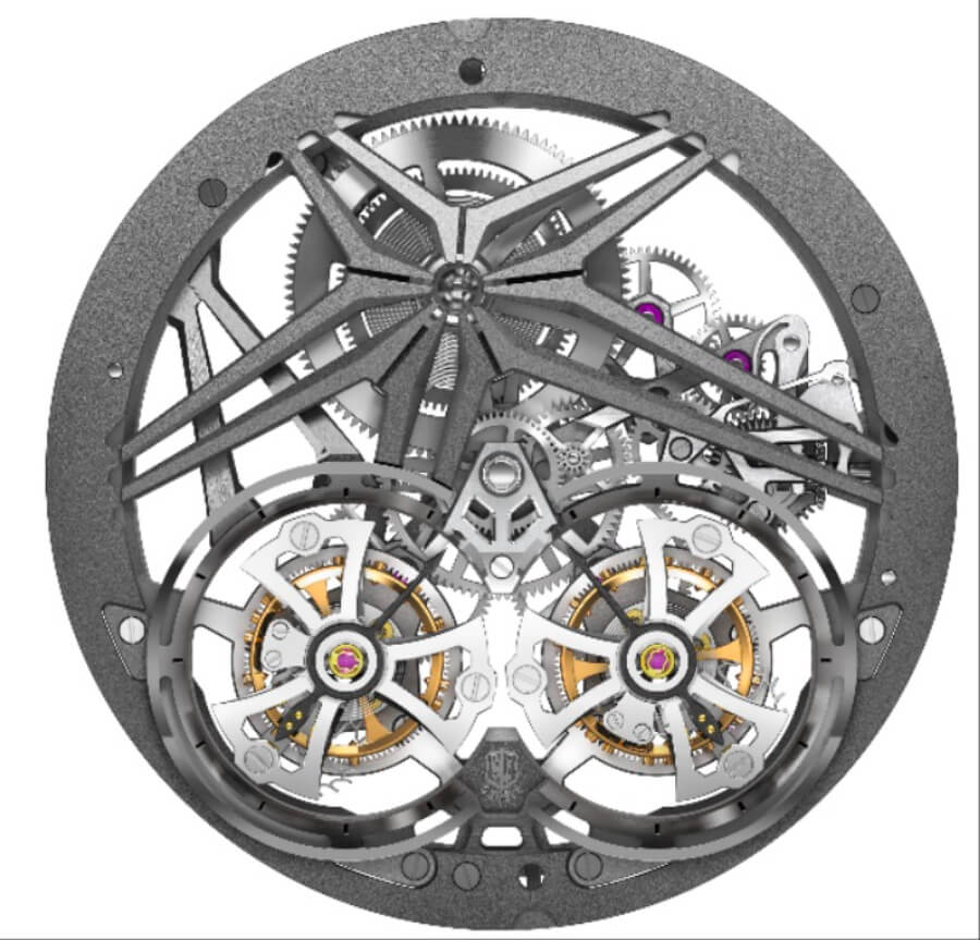 Roger Dubuis RD0108SQ Calibre manual winding with double flying tourbillon
