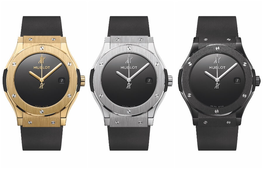 Hublot Classic Fusion 40 years anniversary in Yellow Gold, Black Ceramic and Titanium