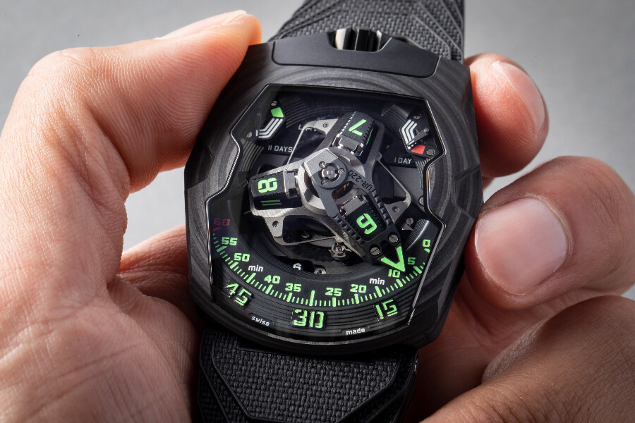 "Urwerk UR-220 ""Falcon Project"" Carbon Edition Watch Review"