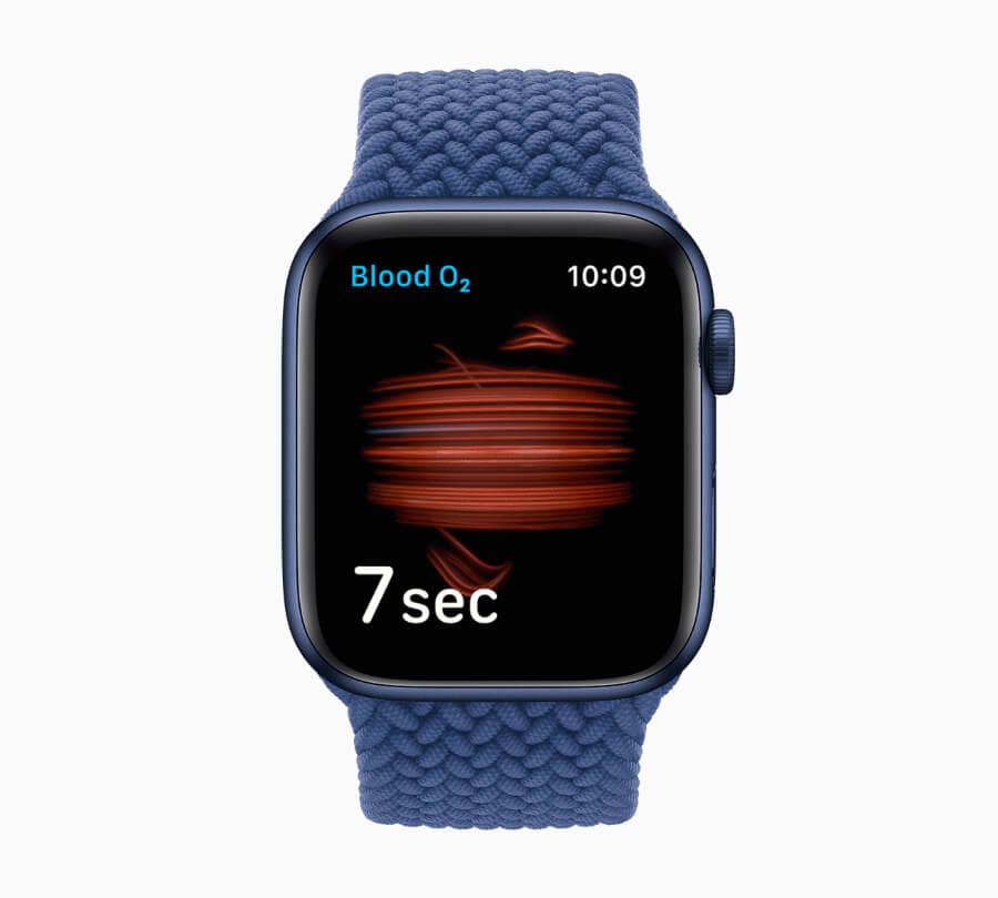 Apple Watch Series 6 Blood Oxygen Sensor and App