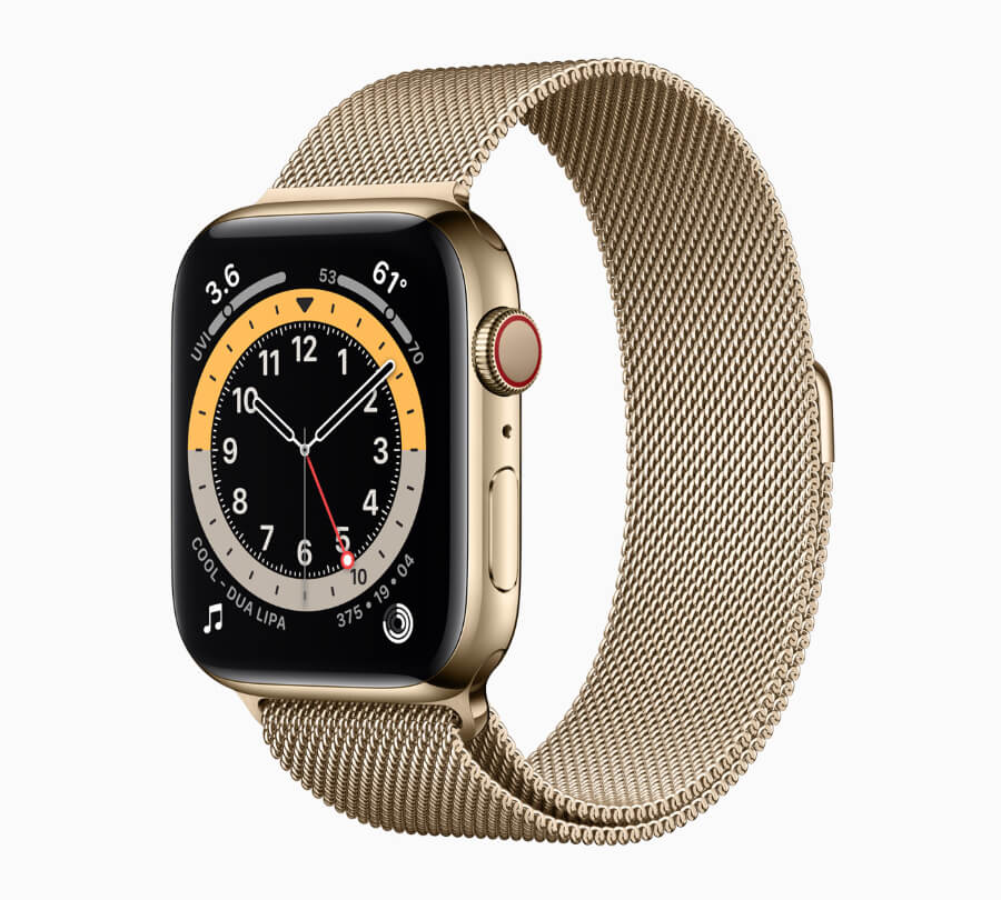 Apple Watch Series 6 in the new yellow gold stainless steel case