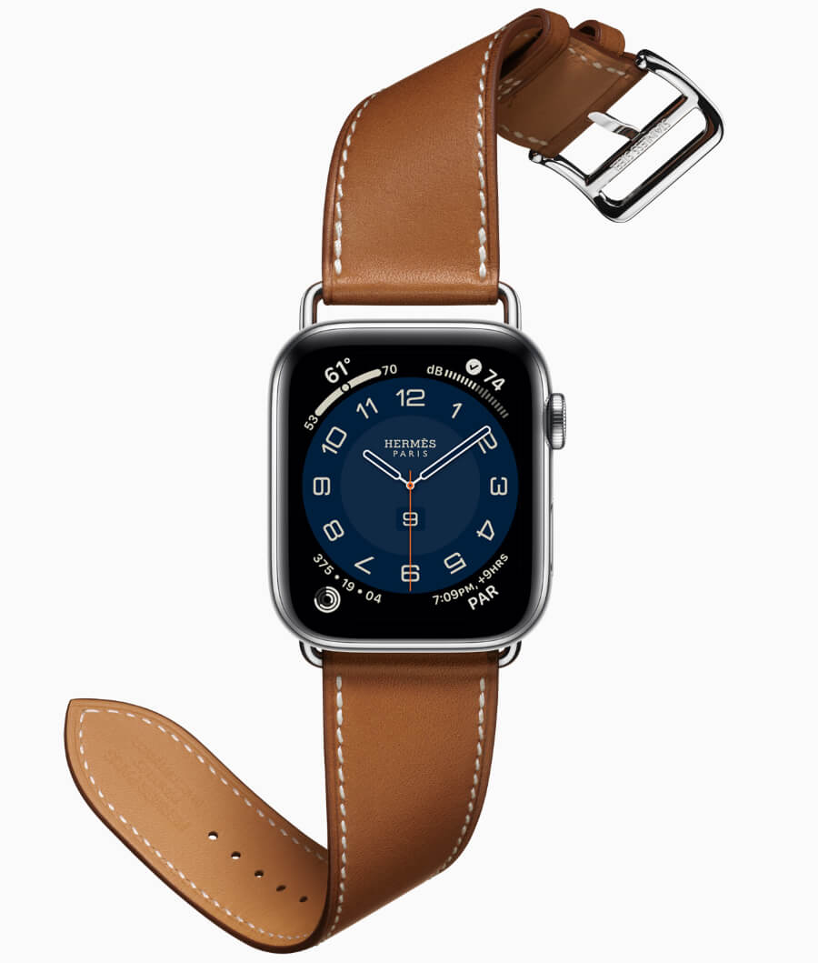 Apple Watch Hermès introduces the Hermès Attelage Single Tour and slimmer Attelage Double Tour bands, along with new colors of classic band styles